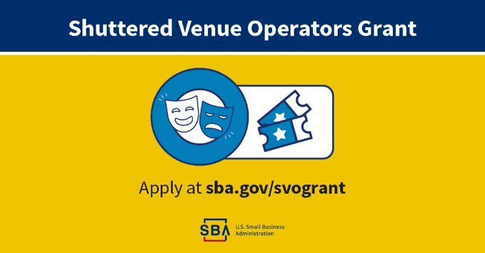 SVOG - Shuttered Venue Operator Grant