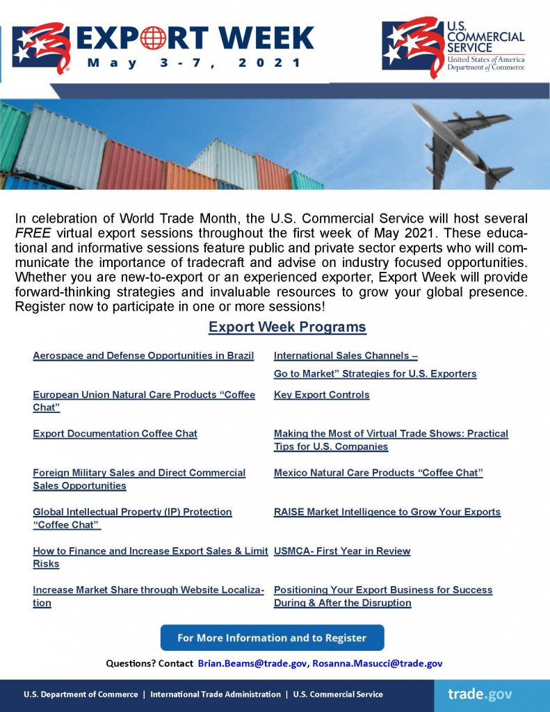 US Commercial Service - Export Week May 3-7, 2021