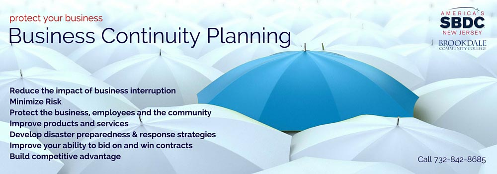 Learn Business Continuity Planning at ASBDC at Brookdale Community College.