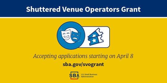 Shuttered Venue Operator Grant